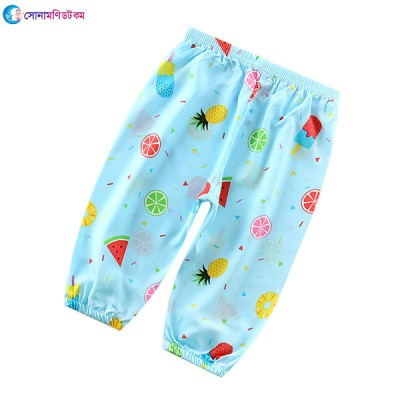 Baby Cotton Silk Trousers - Sky Blue