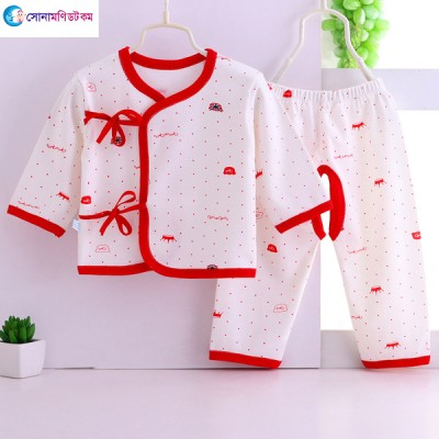 Baby Cotton Suits - White & Red