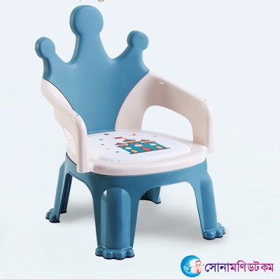 Baby Feeding Chair Chinese- Crown & Blue