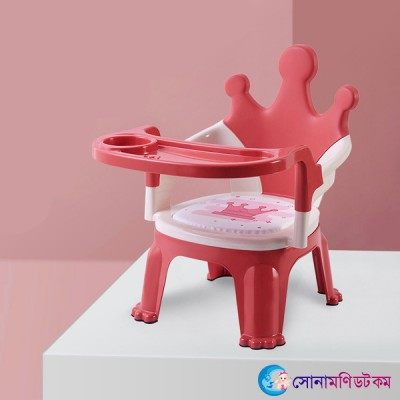 Baby Feeding Chair Chinese- Red & Crown