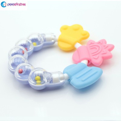 Baby Hand Bell Teether - Blue