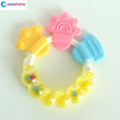 Baby Hand Bell Teether - Yellow