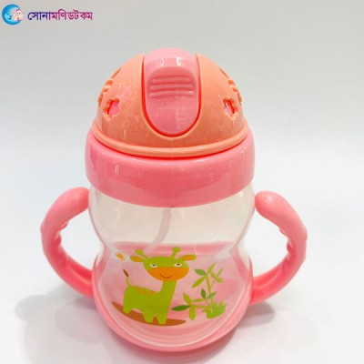 Baby Straw Drinking Cup 200 ml - Pink