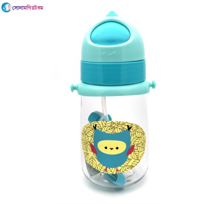 Baby Straw Drinking Cup 350 ml - Blue
