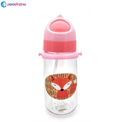 Baby Straw Drinking Cup 350 ml - Pink