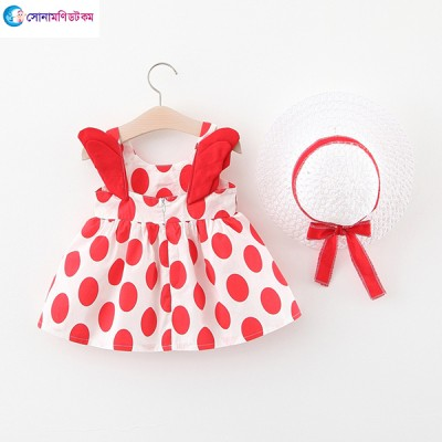 Baby Wing Dress & Hat - White & Red