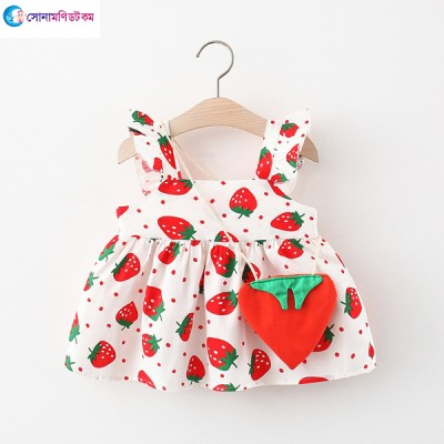 Baby Wing Dress & Strawberry Bag - White & Red