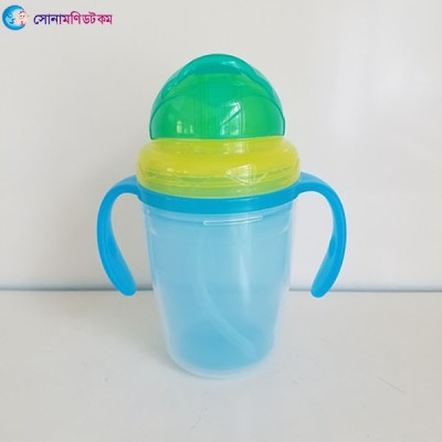 Double Layer Insulation Straw Cup 240 ml - Blue