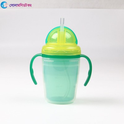 Double Layer Insulation Straw Cup 240 ml - Green