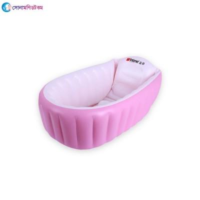 PVC Portable Baby Bathtub - Pink