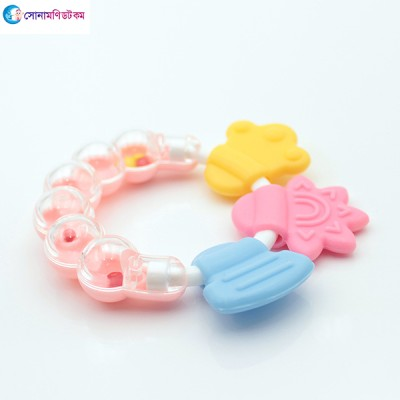 Baby Hand Bell Teether - Pink
