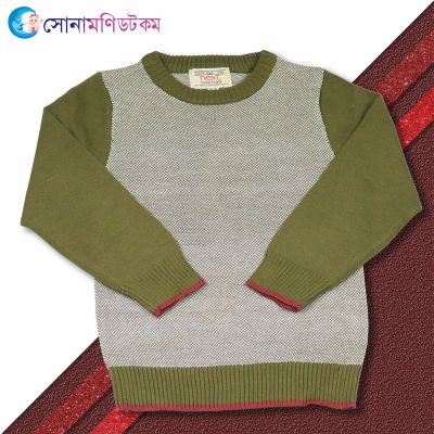 Baby Sweater-Olive