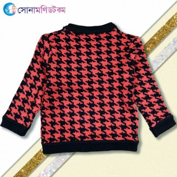 Kids Sweater– Black and  Red | Winter Collection | BOY FASHION at Sonamoni.com