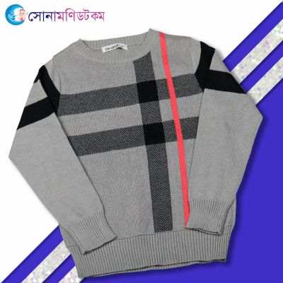 Baby Sweater-Gray And black
