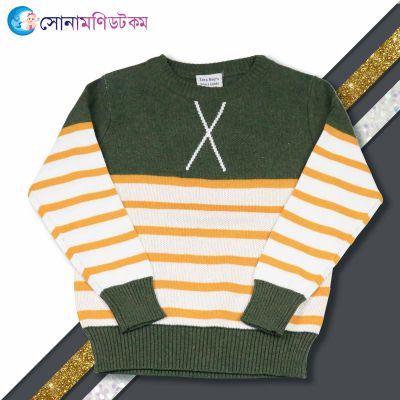 Baby Sweater--Olive