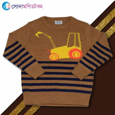 Baby Sweater-Brown Color