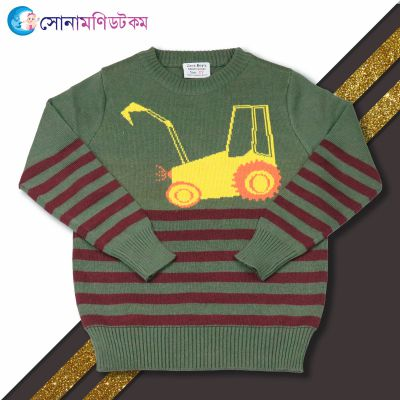 Baby Sweater---Olive