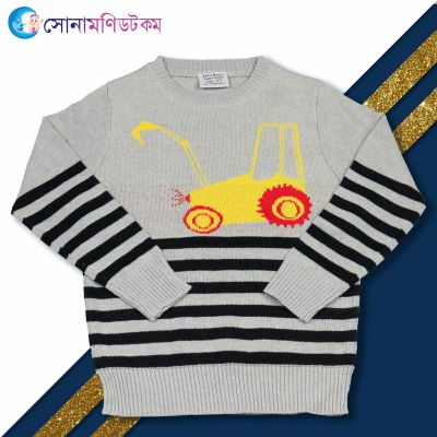 Baby Sweater-Grey Color