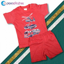 Baby T-Shirt & Shorts Set- Red