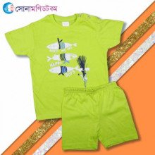 Baby T-Shirt & Shorts Set- Green