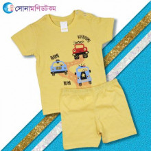 Baby T-Shirt & Shorts Set- Yellow