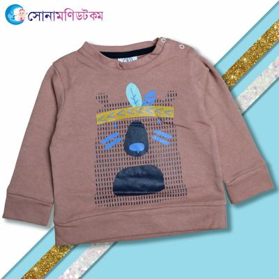 Baby Sweat Shirt- Brown Colour