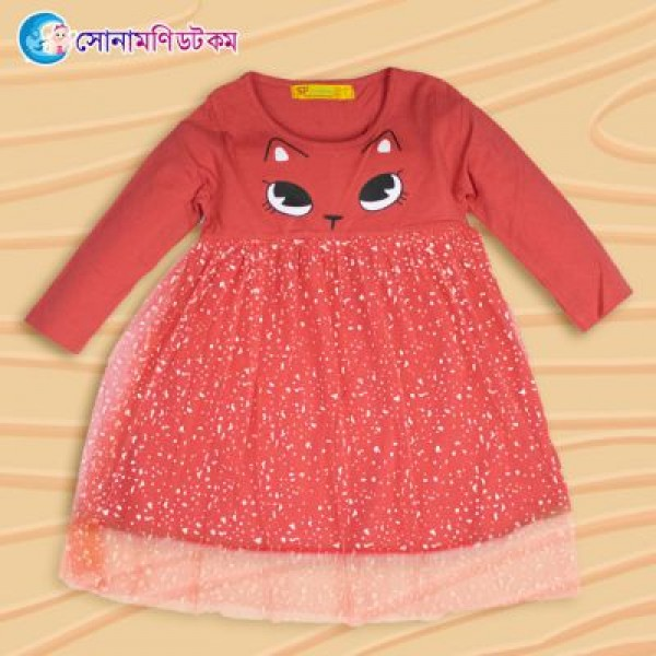 Girls Full Sleeve Frock - Red | Winter Collection | GIRLS FASHION at Sonamoni.com