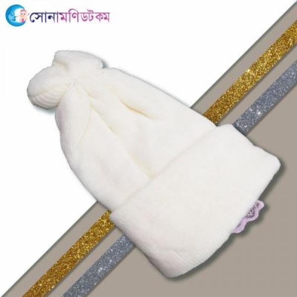 Baby Woolen Cap - Cream | Caps, Gloves & Others | Winter Collection at Sonamoni.com
