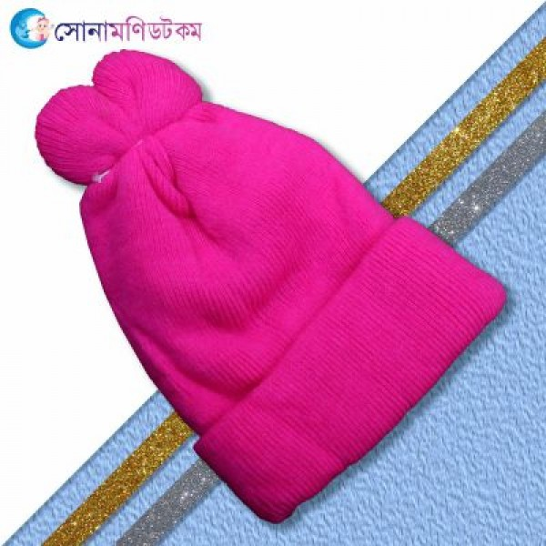 Baby Woolen Cap - pink | Caps, Gloves & Others | Winter Collection at Sonamoni.com