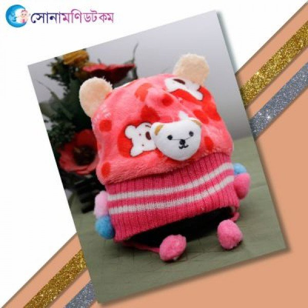 Baby Woolen Cap - Red | Caps, Gloves & Others | Winter Collection at Sonamoni.com