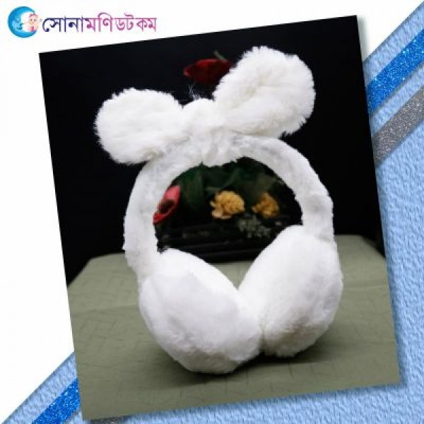 Baby Ear Muffs-White   Caps, Gloves & Others   Winter Collection at Sonamoni.com
