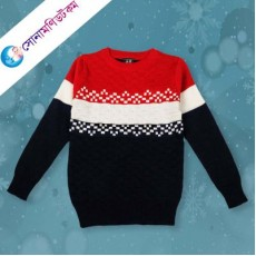 Baby Sweater - Black & Red